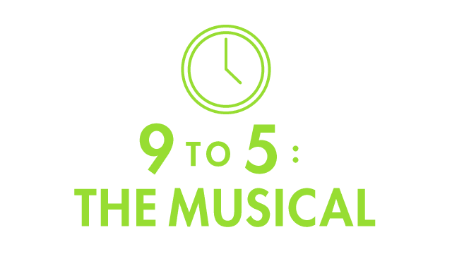 9 to 5 The Musical with Clock Icon